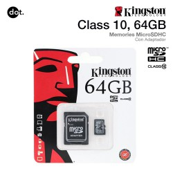 KINGSTON MICROSD 64GB CLASE...